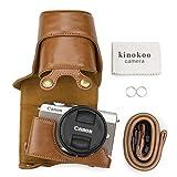 kinokoo - Funda de Piel sintética para Canon EOS M100/EOS M10 y EF-M15-45 mm/EF-M55-200 mm
