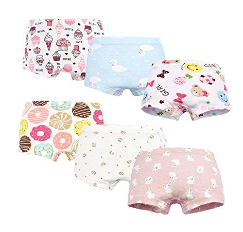 singmay 6er Pack Bequeme Baumwollene Kinder-Unterhosen Unterwäsche für Kleine Mädschen Höschen