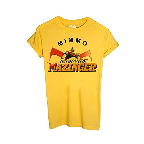 MUSH T-Shirt MIMMO Verdone T-Shirt Mazinger - Social by Dress Your Style - Uomo-L-Gialla