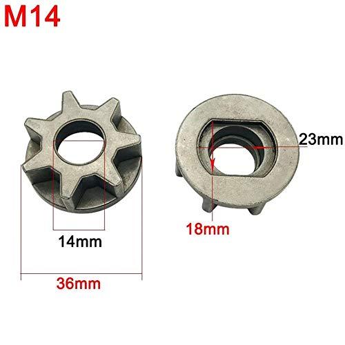 XW-DJULT, M10 M14 M16 Piñón sierra de la cadena del engranaje por 100 115 125 150 180 Ángulo Grinder de sustitución de herramienta de alimentación del soporte de la motosierra Gear ( Color : M14 )