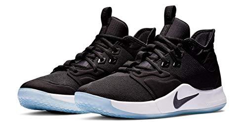 Nike Men's PG 3 Basketball Shoes, Black/Black/White (US 11)