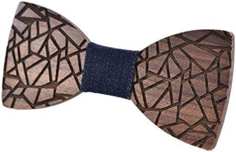 Mens Boys Bowtie Handmade Customized Solid Wood Bow Tie Creative Wedding Wooden BowTie Necktie product image