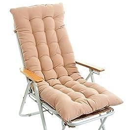 Coussin de chaise de décoration de bureau à domici Coussin chaise longue Thicken Chaise pliante Allonger Coussin Chaise…