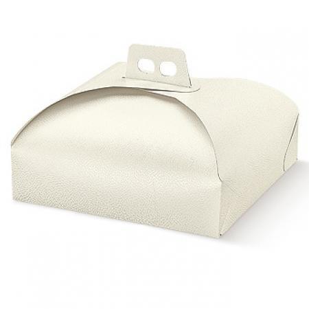 Dalbags - Pz 3 Scatola Porta Torta in Cartone - per Trasportare Dolci, Torte ecc. - Adatto per Torte e Vassoi Rettangolari e Quadrati Formato 40x40 Colore Bianco Generico