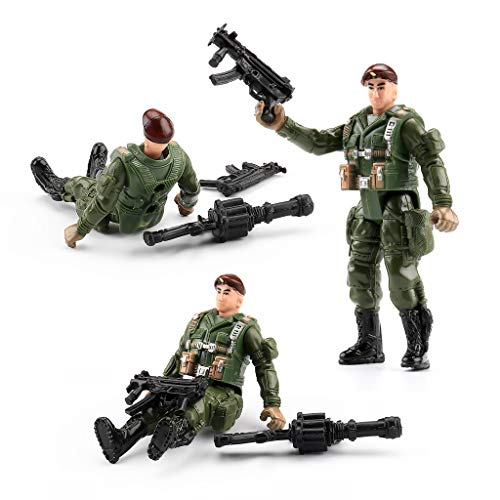 US Army Men and SWAT Team Toy Soldiers Action Figures Playset with Military Weapons Accessories for Kids Boys Girls,12Pcs