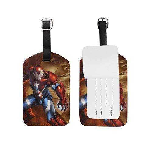 Etiquetas de Equipaje de Iron Man con Correa Ajustable para Equipaje de...