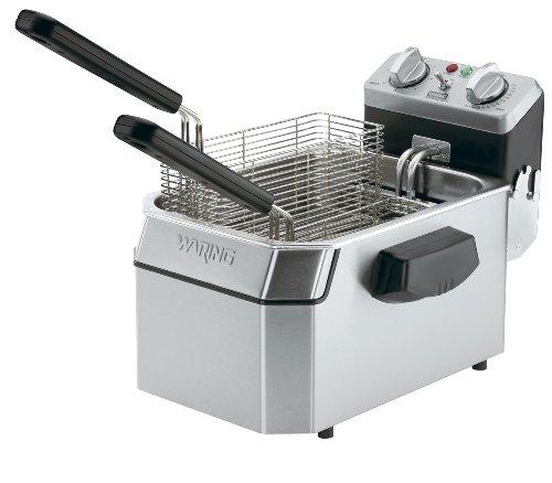 Waring Commercial WDF1500B 208-volt Heavy-Duty Single Electric Deep Fryer, 15-Pound