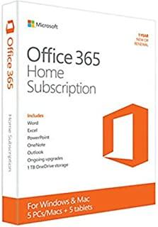 Office 365 Home (5台版)(Word/E xcel/PowerPoint/OneNote)【並行 輸入品】