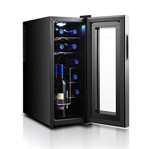 Hermsi 12 Botella Vinoteca - Funcionamiento silencioso Nevera termoeléctrico de Vino Refrigerador Independiente pequeño Enfriador de...