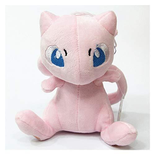 CHENPINBH Plüschtiere Mew Plüschspielwaren Puppen Mew Pokémon Plüsch ausgestopfte Spielwaren Kinder (Color : Pink, Height : 16cm)