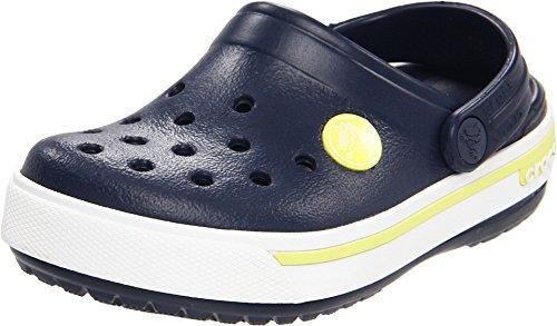 Crocs Crocband II.5 Clog Kids, Zuecos Unisex Niños, Azul (Navy/Citrus), 19/21 EU
