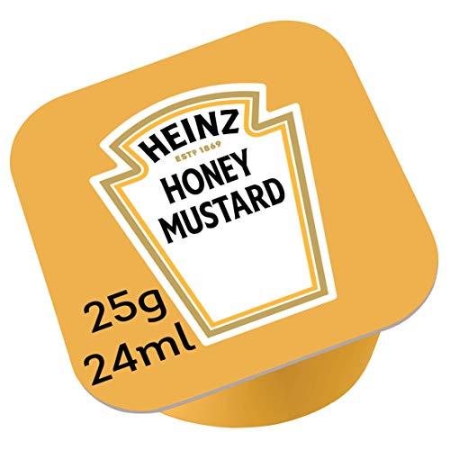 1 caja de 100 unidades Heinz Miel y Mostaza Dip Pot 25g
