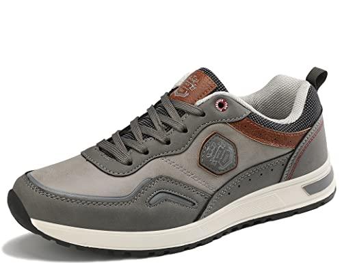 ARRIGO BELLO Sneakers Uomo Scarpe Ginnastica Sportive Running Trekking Mocassini Uomo Estivi all'aperto Respirabile Taglia 41-46 (T Grigio, Numeric_45)