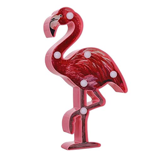 MagiDeal LED Flamingo Llama Light, Flamingo Light Battery Powered Night Table Light for Home Wall Kid's Gift Room Birthday Party Decorations - Flamingo