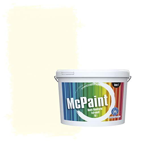 McPaint Bunte Wandfarbe extramatt für Innen Wolkenweiß - 5 Liter - Weitere Weiße und Helle Farbtöne Erhältlich - Weitere Größen Verfügbar