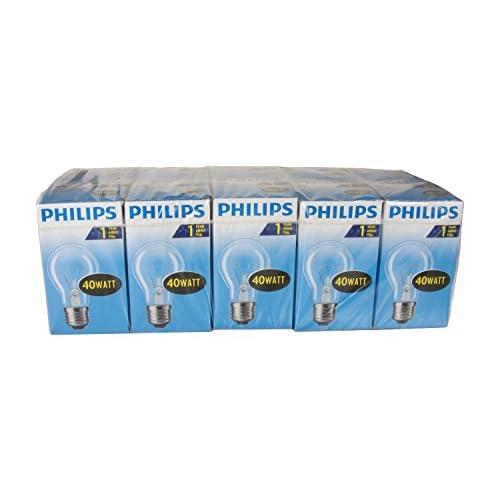 Philips 30600001 Lampadina a incandescenza Forma vetro 40 W E27 Bianco [Classe energetica E], 10 pezzi
