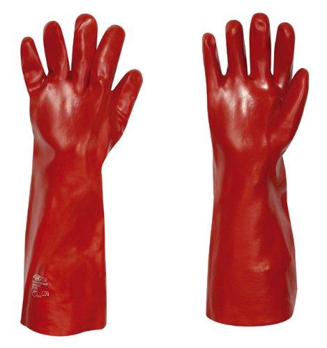 PVC-handschoenen 45 cm rood maat 10.