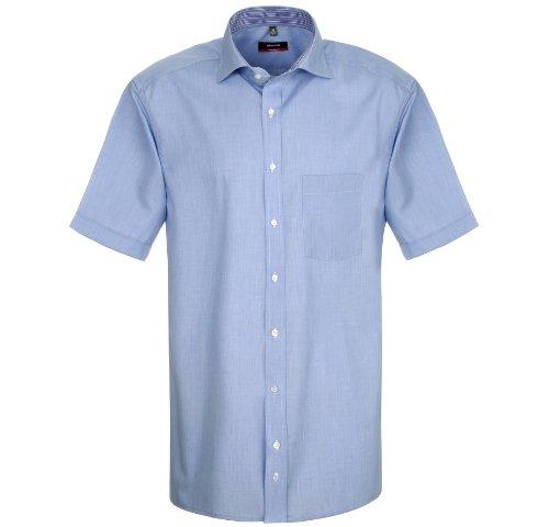 Eterna Chemise à manches courtes en coton pour homme Coupe moderne Bleu Taille M/39 - Bleu - bleu, Medium