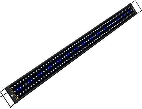 NICREW Luz LED Acuario, Lampara de Acuario, Iluminacion LED para Acuarios Plantados Lampara LED para Peceras 116-136 cm, 32W, 7000K con Enchufe