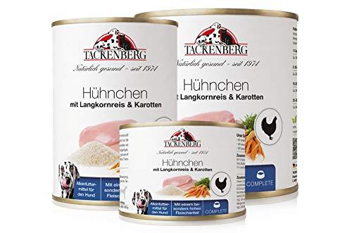 Tackenberg Hundefutter, Nassfutter für Hunde (Hühnchen + Langkornreis + Karotten), getreidefrei