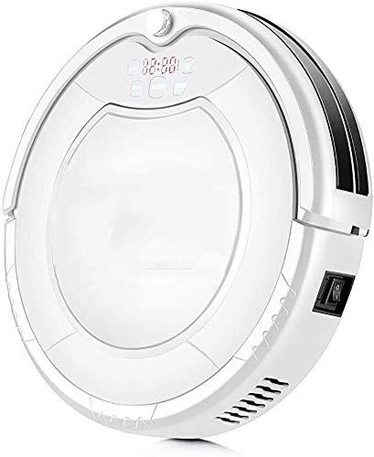 Dmqpp Robot Stofzuiger, Gratis Zijborstels Filter, Zelf Opladen Robotstofzuiger, Reinigt Harde Vloer En Dun Tapijt, Wit