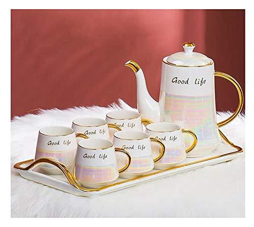 YYH Keramik Kaffeetasse Set Nachmittagstee Set Europäisches Zuhause Kreatives Leben Essentielle Wasservorräte Verfeinert