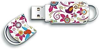 Integral INFD16GBXPRBIR - Memoria USB de 16 GB (USB 2.0, Tapa) diseño Floral