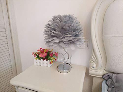 Witte veren plafond kroonluchter lampenkap, niet-elektronische lampenkap voor vloerlamp en tafellamp in woonkamer, eetkamer en slaapkamer,Gray