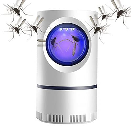 Advanced Mosquito and Flies Exterminator-Suction Fan,No Zapper,Child Safe,Waterproof, Silent Vacuum Trap with USB Power, for Indoors Outdoors Home Bedroom