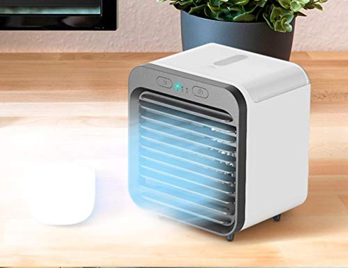 2020 Rechargeable Water-Cooled Small Air Conditioner, Portable Ultra-Quiet mini air conditioner Fan,Cooling Fan for Home with evaporative Air Cooler with 3 Wind Speeds, mini fan for desk of office