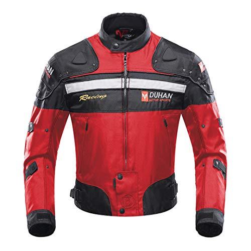 Sportinents Motocross Trajes Chaqueta Pantalones Moto Chaqueta Protectora Armadura Ropa Motocicleta Ropa 020 Red M