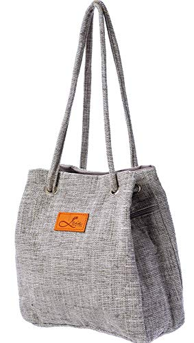 Canvas Tasche Damen & Rucksacktasche Damen- Made in Italy, Canvas Rucksack Tasche Für Damen, Tasche Rucksack Damen 2 in 1, Vintage Taschen, Handtaschen Rucksack, Norsäcke Rucksacktasche 2in1 (Grau)
