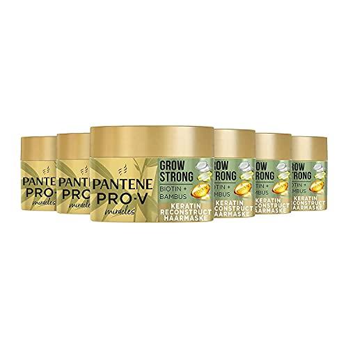 Pantene Pro-V Miracles Grow Strong Keratin Reconstruct Haarmaske Mit Biotin Und Bambus, 6er Pack (6 x 160ml), Haarkur, Haarausfall Frau, Beauty, Haare Kur, Haar Mask, Haar...