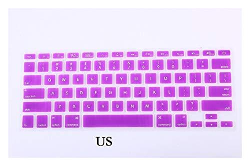 Silicone keyboard cover La piel del teclado de EE.UU. Inglés de la UE for Macbook Pro Retina 13 15 A1502 A1398 2015 teclado cubierta delgada de la piel impermeable de la película del protector Waterpr