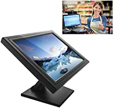 Touch-Screen Cash Register,17 inch Touch Screen POS TFT LED Touchscreen Monitor Desktop USB VGA System Control w/Adjustable POS Stand for Retail Restaurant Retail Bar Pub Kiosk Bar