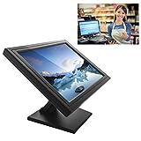 SENDERPICK Écran tactile LCD de 17 pouces - Pour ordinateur, VGA, USB, caisse, restaurant, bar, café, donut