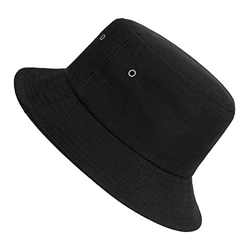 ISIYINER Sombrero del Pescador Algodón Plegable Bucket Hat Unisex Al Aire Libre...
