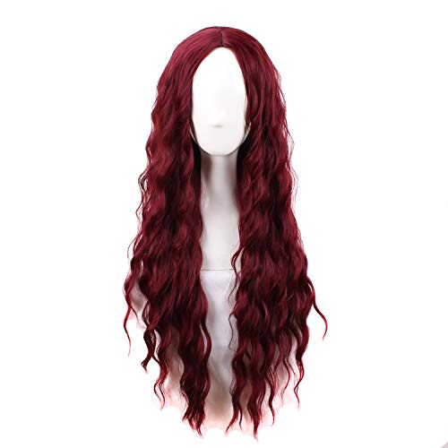31.5' Women's Fashion Long Curly Red Mine Cosplay Wig for Lolita
