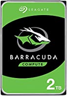 """Seagate BarraCuda, 2 To, Disque dur interne HDD – 3,5"""" SATA 6 Gbit/s 7 200 tr/min, 256 Mo de mémoire cache, pour PC de..."""