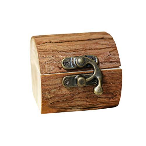 PRETYZOOM Holz Ringkissen Hochzeit Ringbox Ringkasten Ringhalter Kreative Ringschatulle Schmuckaufwahrungsbox für Frauen Damen Brautpaar Ehering Verlobungsring Ringe Hochzeit (Ohne Ringe)