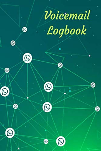Voicemail Logbook: Voicemail and Telephone Messages Logbook | 100 pages, 400 logs | 6x9in, white paper | Messages and Memos tracking