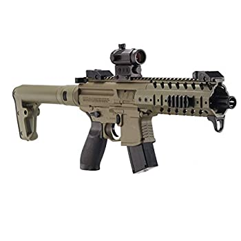 Sig Sauer MPX .177 Cal CO2 Powered SIG20R Red Dot Air Rifle 30 Rounds Flat Dark Earth One Size
