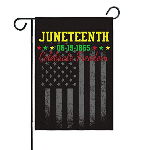 "Garden Flags Juneteenth Flag Vertical Double Sized Home Flag Independence Day Freedom Decorations Outdoor Banner Yard Farmhouse Flag 12.5""X18"""