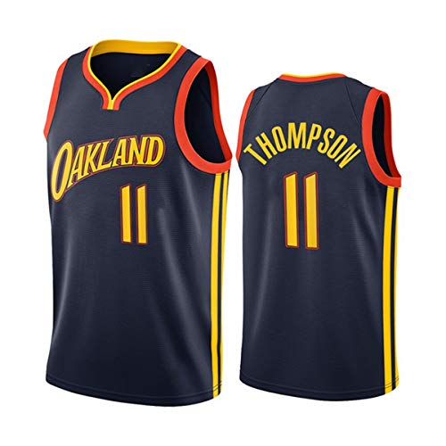 Jerseys De Baloncesto De Los Hombres, NBA Golden State Warriors Klay Thompson 11# Cool Tela Transpirable Unisex Camisa De Entrenamiento De La Camisa Vestido Sin Mangas,S(165~170CM/50~65KG)