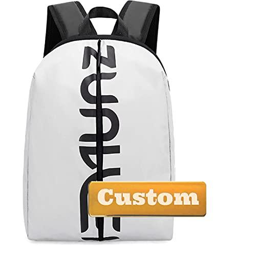 WICKER WEAVING Moda Personalizada de Personal Personalizada para Mochila Bolsa de computadora Mujer portátil de 13 Pulgadas Bolsa de Laptop (Color : Grey, Size : One Size)