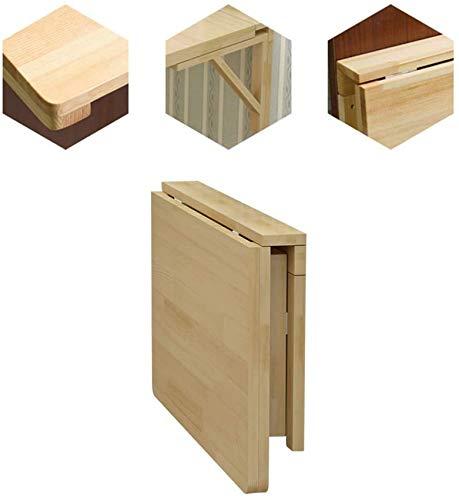 AXAA Mesa plegable de pared, mesa de comedor, mesa de pared de madera maciza plegable escritorio de computadora mesa de aprendizaje de hojas de gota mesa de estudio tamaño opcional