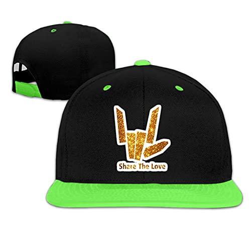 Holefg3b Gorras de béisbol para niños y niñas Share The Love Unisex Niños Sombreros de Sol Ajustable Hip Hop Sombrero Niños Snapback Cap