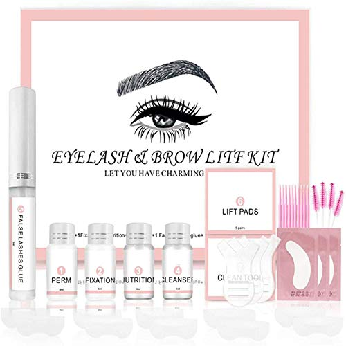 2 in 1 Eyebrow and Lash Lamination Kit, Professional Lift for Trendy Fuller Brow Look And Curled...
