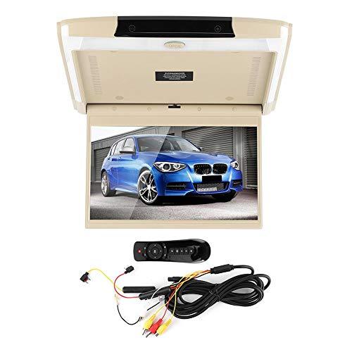 Pantalla de montaje de coche Bigking, pantalla de montaje de coche de 12,5 pulgadas 1080P Monitor de techo y techo LCD abatible con WIFI/HDMI/USB/SD para Android 8,1