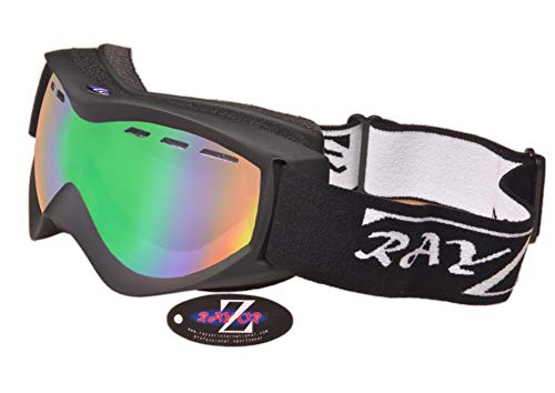 Rayzor Ski Snowboarding Goggles | Anti Fog, UV400 bescherming, geventileerd skiën en snowboard bril | Comfortabel, onbreekbaar voor ski's, sneeuwscooters en snowboards | Anti Glare Vented Sneeuwkleding